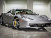 2010 Ferrari 458 Italia Outfitted in Beautiful Silver