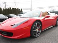 2012 Ferrari 458 SpiderFERRARI APPROVEDQUALIFIES FOR