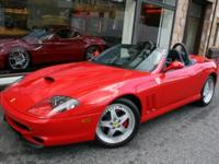 This is a Ferrari 550 for sale by Miller Motorcars. The