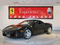 2008 Ferrari F430 Spider F1Nero over Nero leather and