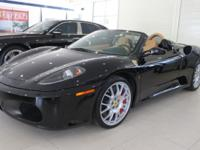 2008 Ferrari F430 Spider F1Nero over Beige leather and
