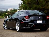 This is a beautiful Black Ferrari FF with complimenting