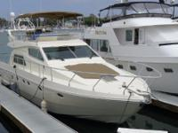 The Ferretti 50 Motor Yacht is a stylish boat with a