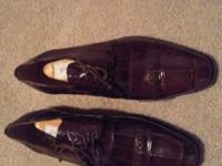 Very nice men Authentic Ferrini brown shoes $ 500.00