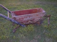 Rare  wooden mule drawn spreader. 100 yrs old.