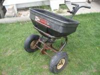 Agri-Fab model 100 broadcast spreader - works fine, but