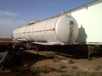 Fertilizer aluminum tanker trailer ready for this year