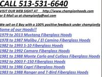 All Fiberglass Hoods Made in the USA Don't pay $500.00