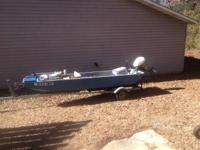 fiberglass watercraft with a Johnson 9.5 in. excellent.
