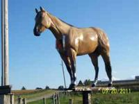 Full Size Fiberglass Horse Statue With Stand