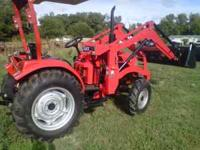 Field Pro 404G2 tractor with loader. Ag tires, remote
