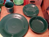Fiestaware dishes are in exceptional condition.