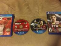 Selling 2 games for ps4 great condition.  Fifa14- $30