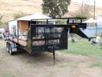 2009 fifth wheel flat bed trailer with electric brakes,