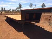 21 ft. gooseneck trailer. Deck over wheels. Double