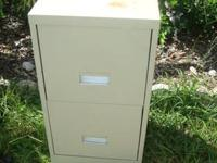 Made of metal This has two drawers In good condition,