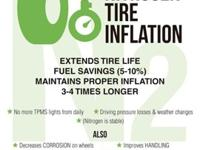 One of the benefits to fill your tires with nitrogen is