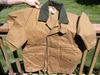 NEVER WORN, AS NEW TOP OF THE LINE FILSON PACKER COAT.