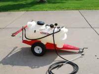 Fimco 25 Gallon Trailer Sprayer with boom and a 2.1 GPM