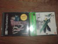 For sale is Final Fantasy 7 and Resident Evil 2 at 15