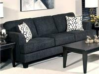 NEW BLACK SOFA WITH TWO ACCENT PILLOWS  $499  ACCENT