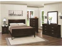 NEW QUEEN 4PC SLEIGH BED SET $559 KING 4PC SET FOR