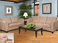 NEW 8PC ROOM TO GO $899  INCLUDES: SOFA LOVE SEAT