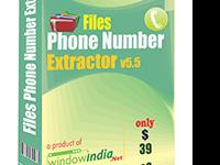 Files Phone Number Extractor Software has the