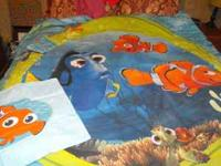 Finding Nemo Bedding Set. Fits a full size bed.