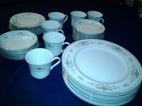 "Fine porcelain china dishes---""Diane"".      Collection."