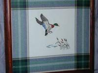 I have for sale a fine machine woven picture of a duck,