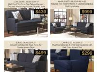 FINLEY LINEN LOVE SEATS  $439 Only Tax Not Included