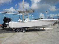 Traditional Offshore center console fisherman boat has