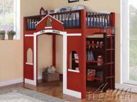FIRE HOUSE LOFT BED ? Kids LOVE this bed! ? Unique and