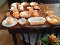 Peach Luster Laurel Leaf ....4 plates, 1 salad plate, 4