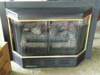 Gas fire place insert. vent-free, remote, thermostate,