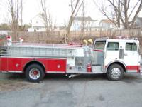 1969 Seagrave pumper with 1500 GPM Pump Fully loaded