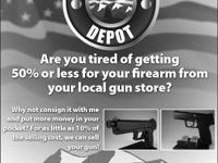 Yes, you read it correctly. You consign your firearms