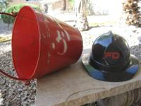 2 things:. Black FD safety helmet generic, condition