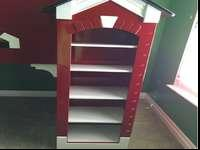 Firehouse bunk bed. Full on bottom, twin on top. We