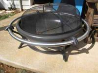 "Firepit purchased from Lowes in '08 for $150.00. 35"" in"