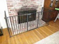 We have a Kidco fireplace gate setup that our kids have