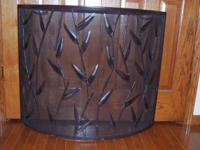 Curved Fireplace Screen Measures approx. 35 1/2 inches
