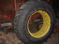 Firestone 20.8x38 151 Field and Road tires on open