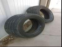 2 Firestone tires 225/70R19.5 14PR. Great condition. No