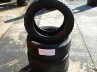 SET OF 4 USED TIRE FIRESTONE 2355517  	FOR MORE INFO