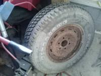 This was the extra tire from a GMC I possessed.