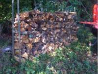 Seasoned firewood delivered and stacked 50 a rick near
