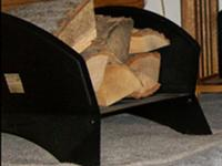 1 (one) Steel Firewood Cradle. The overall length = 21,