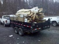 Uncut dump load of approx 7.5 face cord slab firewood.